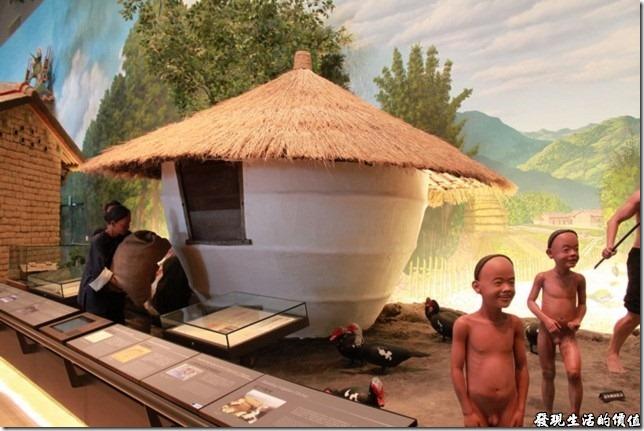 台南-國立台灣歷史博物館。台灣早期的農家生活