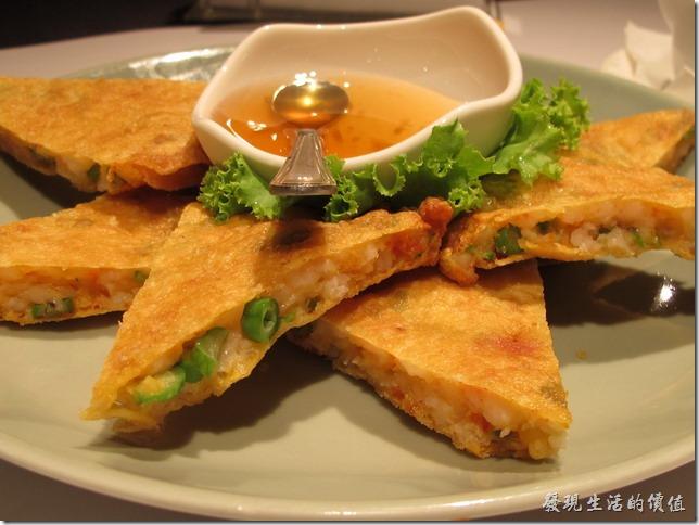 台南-瓦城中山店。辣味月亮蝦餅