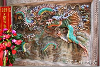 台南-神農街老街。為於神農街上的金華府,左青龍,右白虎。