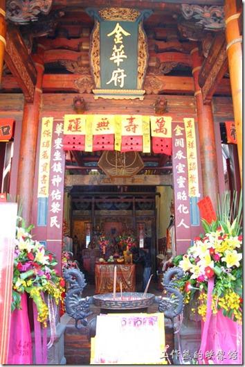 台南-神農街老街。台南市的金華府,台南市市定古蹟,建成於西元1830年。