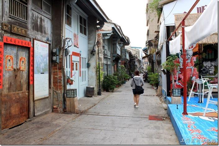 台南-神農街老街。這一條就是有名的「神農街」