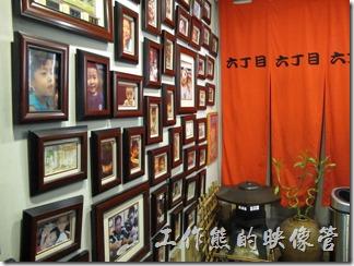 台北-日本六丁目拉麵。六丁目拉麵餐廳內的景象。