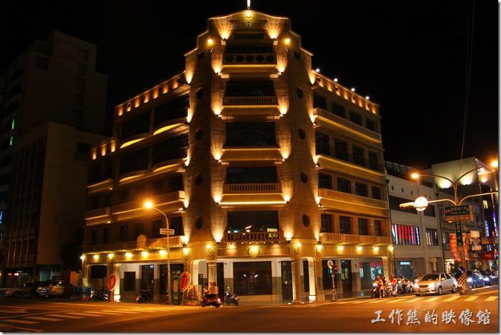 [台南]林百貨古蹟,夜景。