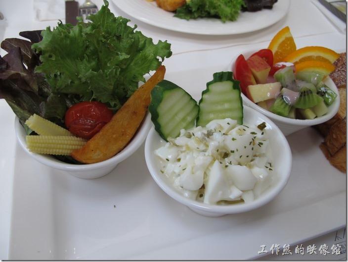 台南-茀立姆早午餐(FILM BRUNCH)。水果沙拉蛋