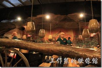 台南-逐鹿焊火燒肉。台南逐鹿探火燒肉的餐廳景象。