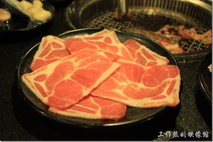 台南-逐鹿焊火燒肉。豬五花