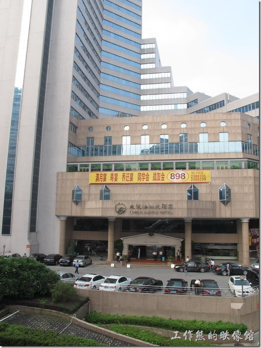 惠州天悅(嘉柏)大酒店的外觀。