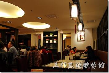 台南-新葡苑港式海鮮飲茶的內部裝潢景色。
