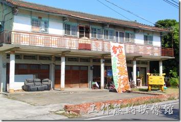 台南-土溝村。這裏是土溝村另外一個村落的藝術街頭,這個村子比前面的竹仔腳來得大許多。