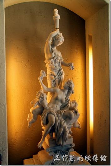 花蓮-理想大地渡假村。這是安達魯西亞宴會廳內的大理石雕像。