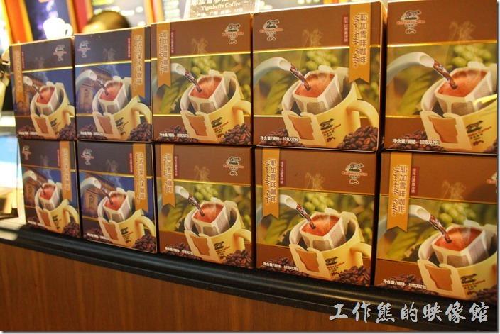 上海-貓屎咖啡。門市還有出耳掛式的沖泡咖啡包(耶加雷啡咖啡)!