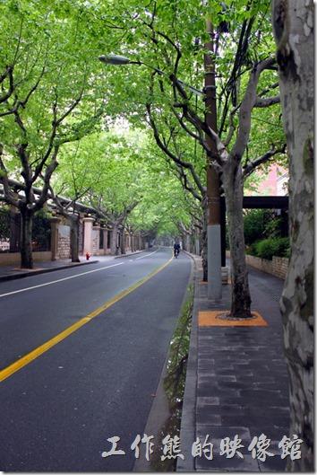上海-思南路 思南公館。上海的「思南路」不知道是被特意保留下來,還是被遺忘了,居然還保留了當時的道路寬度,沒有公車,也沒有嘻嚷的人潮,走在這裡讓人彷彿回到了過去,還可以欣賞兩旁人行道上的法國梧桐,由於栽種已經有一段時日,所以幾乎已形成了天然的綠色隧道,陣陣徐風吹來,樹葉迎風輕搖,讓人幾乎忘卻了城市間的塵囂。