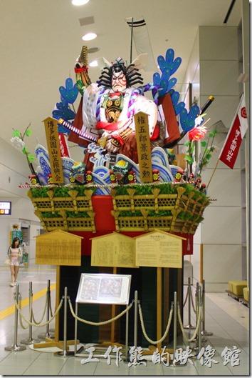 日本北九州-這是擺放在福岡空港的山笠。