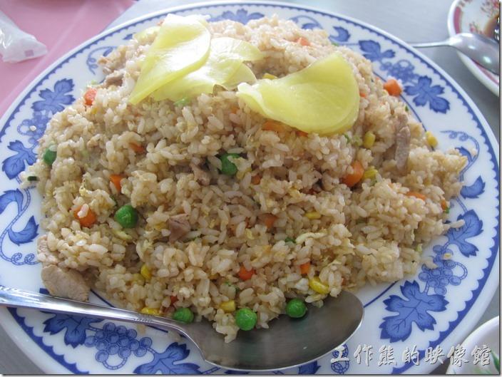台南-和樂食堂。炒飯,好大一盤,粒粒分明,有中上水準。