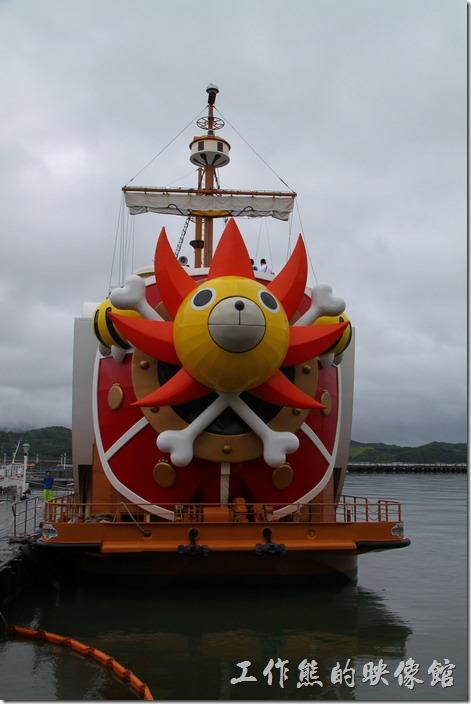 日本北九州-豪斯登堡(千陽號)。從正面觀看千陽號的英姿。