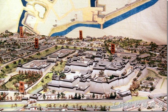 日本北九州-熊本城的天守閣內有展示的等比例熊本城的縮小實體模型。