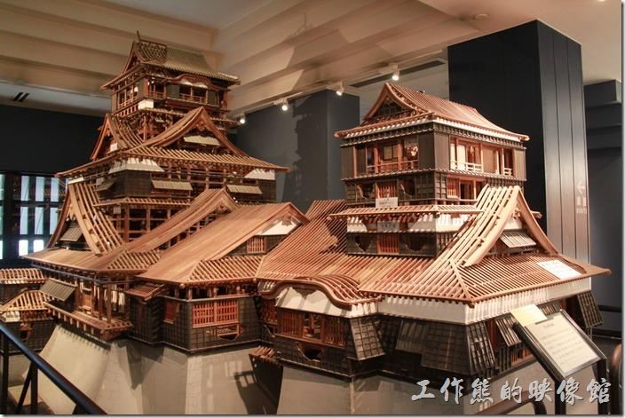 日本北九州-熊本城的天守閣內也有展出昔日熊本城的的木造模型。