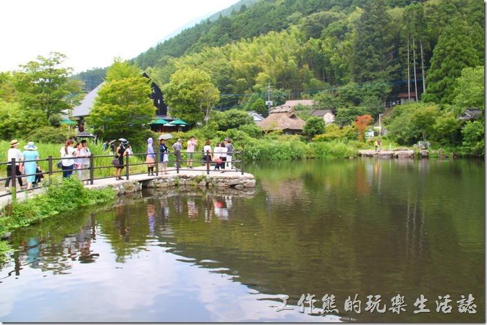 日本北九州-金鱗湖的湖水非常乾淨,而且清可見底,其實湖水也不深。