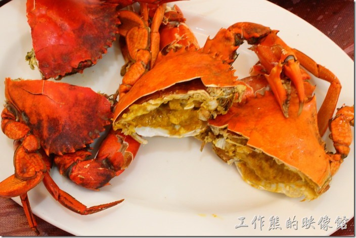 台南-土城海產店。處女蟳