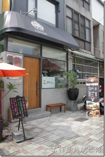 台南-左右咖啡蔬食的外觀