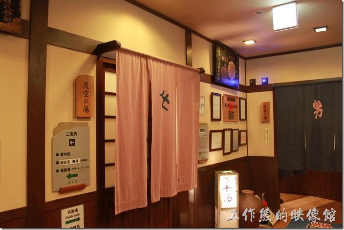 日本北九州-由布院-彩岳館-露天家庭湯屋。這裡也有男湯及女湯分開的大眾浴池。