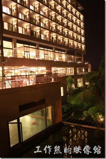 南投雲品酒店的夜景。