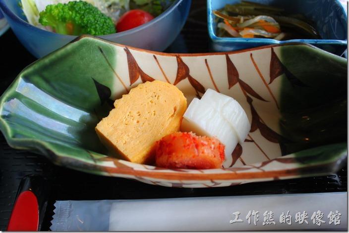 日本北九州-湯布院-彩岳館-早餐。還有玉子燒、名太子、醃漬小菜。