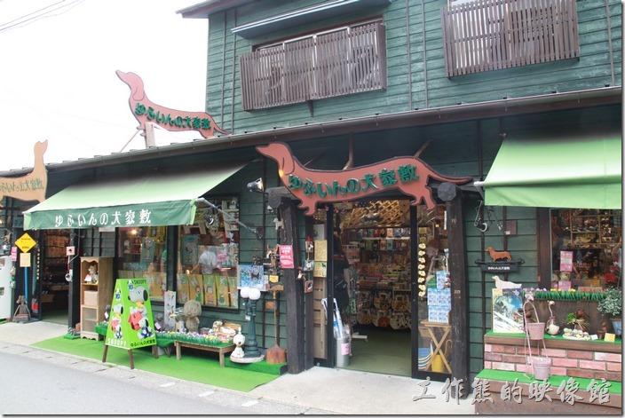 日本北九州-由布院街道。對面還有狗狗用品專賣店。
