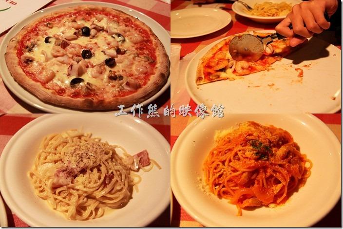 來日本豪斯登堡遊玩,吃飯這件事其實可以當成一種享受,因為這裡的餐廳都有一定的水準,餐點也都不錯,以這間座落在高塔區的「德姆特倫高塔」一樓的【Pizza & Pasta PINOCCIO】(皮諾丘披薩義大利麵館)來說,個人就非常推崇其披薩,皮薄香脆好吃,上面的配料也很新鮮。