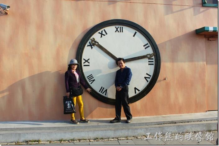 好大的時鐘!