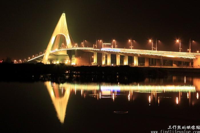 鵬灣跨海大橋夜景(2014平安夜攝)