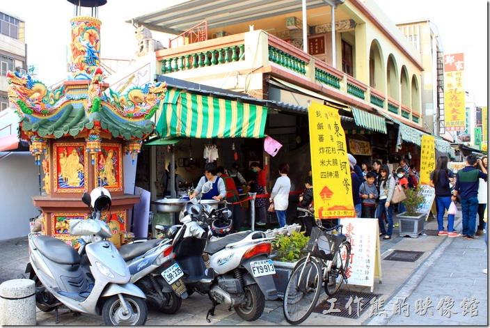 台南東興蚵嗲的外觀。
