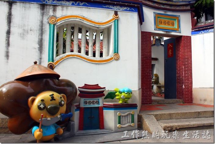 台南-安平老街。效忠街上有個以前官兵的宿舍「海山館」。