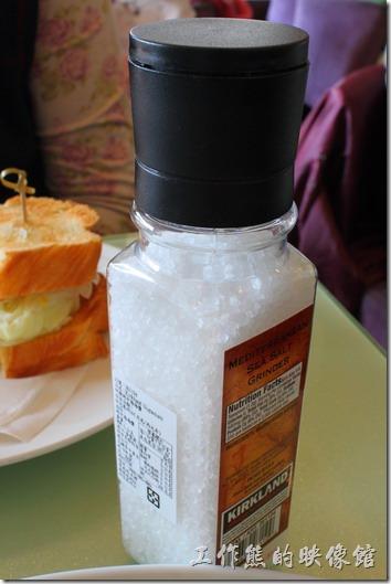 台南-mini-cofffee(海鹽)。海鹽罐。研磨地中海海鹽。