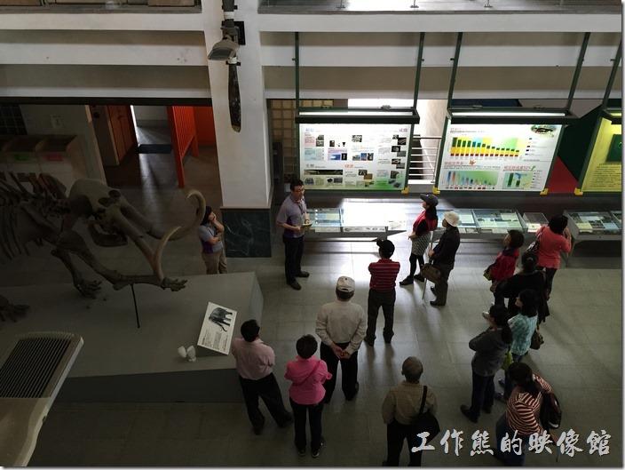 解說員正在向遊客導覽綠色魔法學校的概念。