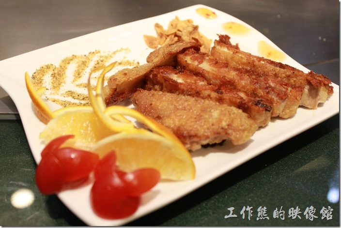 台南-椰如鐵板燒創意料理。雞腿肉