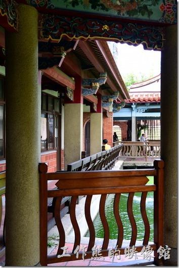 台南吳園的涼亭。