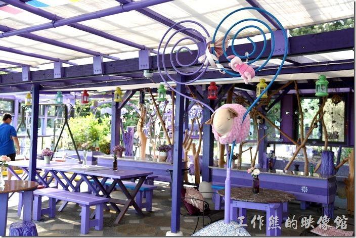 南投清境-瑪格麗特花園餐廳。不知道是否為羊年應景。