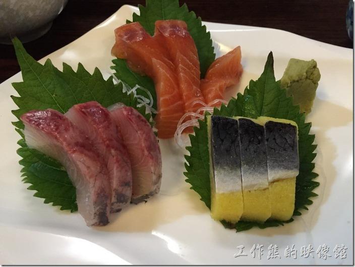昆山-陣屋日本料理。生魚片定食,RMB60。工作熊每次來幾乎都點生片。