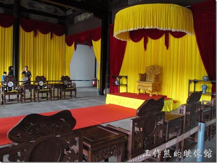 蘇州博物館的出口是「忠王府」,還可以順道參觀一下太平天國的「軍事會議廳」。