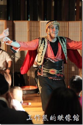 宜蘭礁溪老爺大飯店。土耳其舞蹈表演。