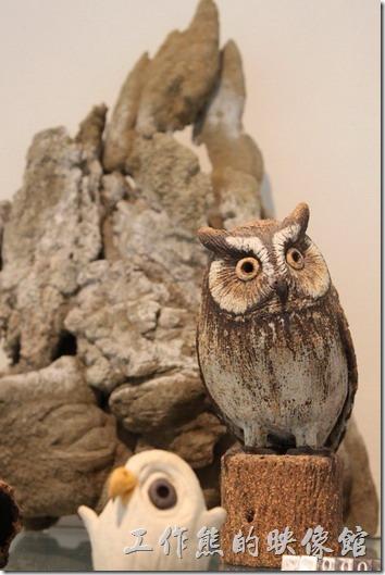 宜蘭礁溪老爺大飯店。禮品店內的小鳥造型擺飾。