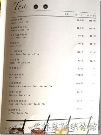 南港LITE麵包店的飲料菜單。