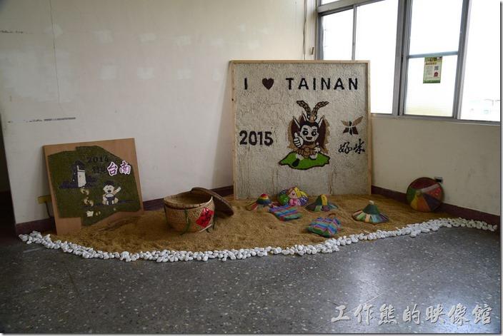 台南後壁農會彩繪稻田