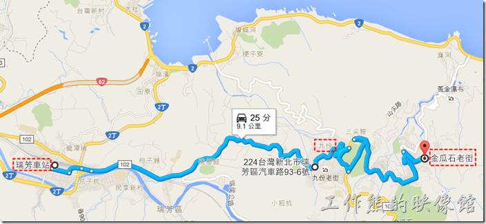 九份金瓜石公車路線圖