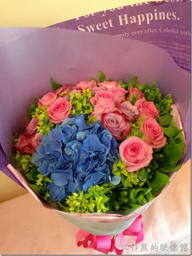 結婚前收到的情人節花束