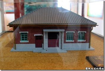 台南運河博物館的外觀建築模型。
