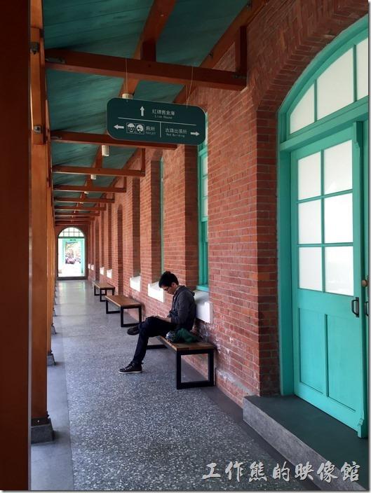 【台南出張所】的後方長廊。