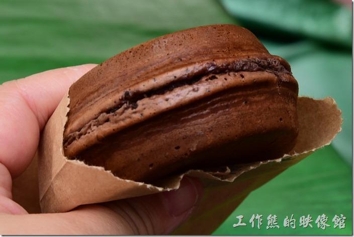 台南-宇田家菓子燒。這是我們當天點的布朗尼騎士,因為老婆說這是她吃過比較好吃的一種。