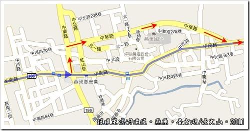 燕巢養女湖,地圖